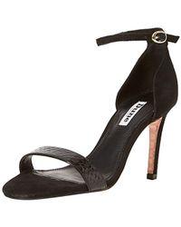 8c34026239ff Dune Wide Fit Mortimer Stiletto Heeled Sandals in Black - Lyst
