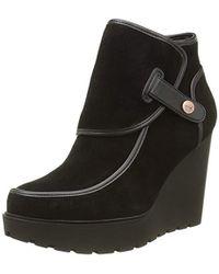 Calvin Klein Damen SEVERINE Suede/Nappa Chukka Boots, Schwarz (blk), 36 EU