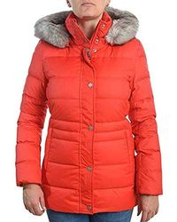 9c9ffa7c Tommy Hilfiger Womens Tyra Long Padded Jacket Red in Red - Lyst