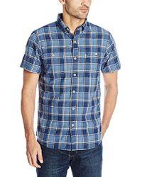 G.H.BASS - Short Sleeve Rock River Textured Plaid Shirt - Lyst