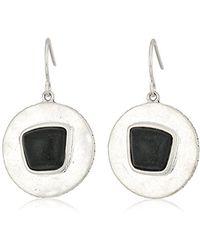 The Sak - Semi-precious Round Drop With Stone Drop Earrings - Lyst