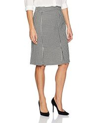 Kasper - Classic Houndstooth Slim Skirt With Slits - Lyst