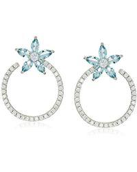 Nina - Jewelry Spring 2018 S E-salerno(b) Earrings, Rhodium/blue Cz - Lyst