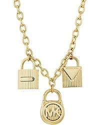 Michael Kors - S Logo Pendant Necklace - Lyst