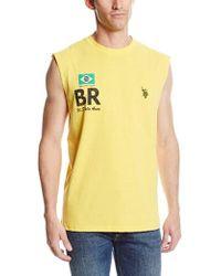U.S. POLO ASSN. - Brazil Flag Muscle T-shirt - Lyst