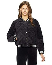 Juicy Couture - Black Label Velour Quilted Bomber Jacket - Lyst