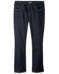 Perry Ellis - Suki Mid Rise Slim Contour Bootcut Jean Plus Size, Rinse Wash, 22x31 - Lyst