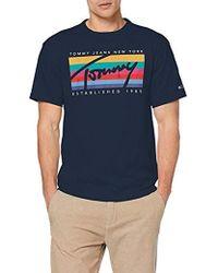e791e983 Tommy Hilfiger - Tjm Tommy Rainbow Box Tee Short Sleeve T - Lyst