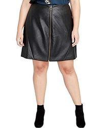 RACHEL Rachel Roy - Plus Size Zip Up Mini - Lyst