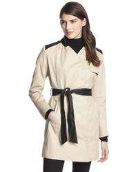 French Connection - Inverted-collar Belted Trench Coat - Lyst
