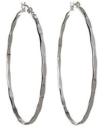 BCBGeneration - Bcbg Generation Textured Mega Hoop Earrings - Lyst