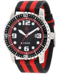 Izod - Izs3/9 Red Sport Quartz 3 Hand Watch - Lyst