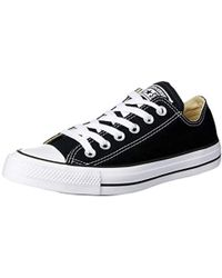 0a67ffdb74c443 Converse Women s One Star Leather Lace Up Sneakers in Black - Lyst