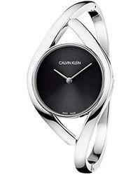 Calvin Klein Reloj Analógico para Mujer de Cuarzo con Correa en Acero Inoxidable K8U2S111 - Multicolor
