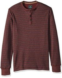 G.H. Bass & Co. - . Textured Striped Long Sleeve Crew Neck Shirt - Lyst