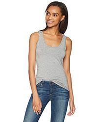 dd510d2b237a7 Lyst - Calvin Klein Womens Signature Scoop Neck Tank Top in Gray