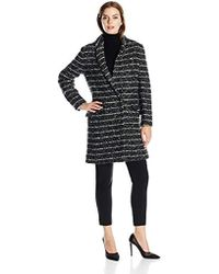 Vera Wang - Coco Single-breasted Striped Tweed Coat - Lyst