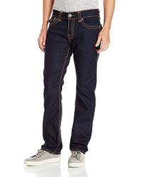True Religion - Ricky Relaxed Straight Super T Flaps - Lyst
