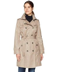 "London Fog - Double Breasted 36"" Trench With Single Flap - Lyst"