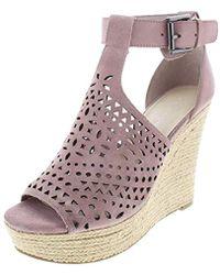 6dae1cc862af Lyst - Marc Fisher Hasina T-strap Platform Wedge Sandals in Black