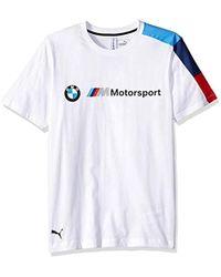 78e84e3b8a1 Lyst - PUMA Bmw Motorsport Graphic T-shirt in White for Men