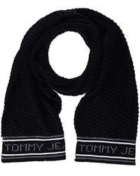 Tommy Hilfiger - Tju Chunky Logo Scarf - Lyst