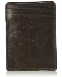 Fossil - Magnetic Card Case Wallet - Lyst