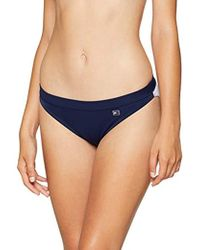 5288236bc0401 Tommy Hilfiger Navy Flag Crop Bikini Top in Blue - Lyst