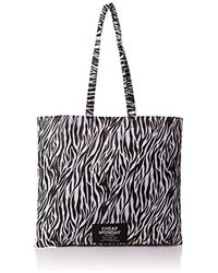 Cheap Monday - Unisex Adults' Rapid Tote Zebra Canvas And Beach Tote Bag Multicolour (zebra) - Lyst