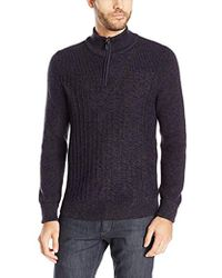 Vince Camuto - Mixed Yarns Mock Neck Sweater - Lyst