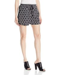 Armani Exchange - | Drw String Poly Printed Woven Shorts - Lyst