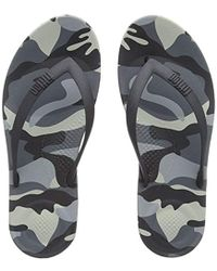697d2299d Fitflop Iqushion Camo Open Toe Sandals in Blue for Men - Lyst