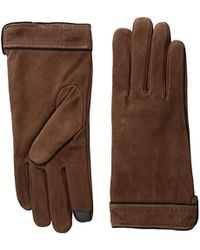 Adrienne Vittadini - Soft Suede Micropile Lined Touchscreen Gloves - Lyst