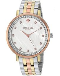 Kate Spade - Tri-tone Stainless Steel Monterey Watch - Lyst