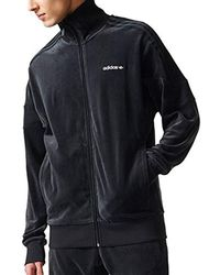 b62ec4cf6d815 Lyst - adidas Clr84 Velour Tracktop in Black for Men