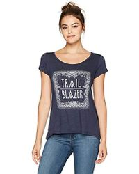 Jessica Simpson - Lavender Twist Open Back Graphic Tee - Lyst