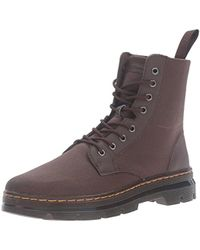 Dr. Martens - Combs 8-Eye Canvas Ankle Boots - Lyst