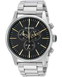 Nixon - 'sentry Chrono' Quartz Stainless Steel Casual Watch, Color:silver-toned (model: A3862730) - Lyst