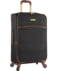 """Anne Klein - 17"""" Rolling Carry-on Luggage Bag, Black Quilted - Lyst"""