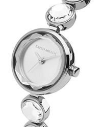 Karen Millen - Quartz And Stainless Steel Casual Watch, Color:silver-toned (model: Km149sm) - Lyst