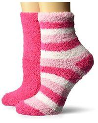 Dr. Scholls - 2 Pack Spa Stripe Crew Socks - Lyst