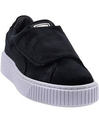 cad5ed2eb2e0 PUMA - Women s Basket Platform Strap Velvet Rope Casual Sneakers From Finish  Line - Lyst