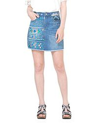 Desigual - Segovia Denim Knee Skirt - Lyst