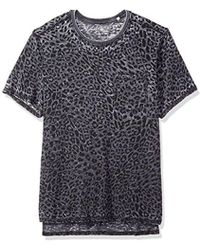 Guess - Short Sleeve Myer Leopard Crew - Lyst
