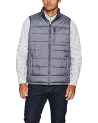 Izod - Insulated Reversible Vest With Rip Stop Fabric - Lyst