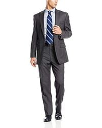 Jones New York - Colt Two-button Side-vent Suit With Flat-front Pant - Lyst