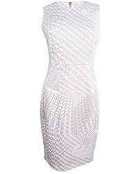 CALVIN KLEIN 205W39NYC - Flocked Fabric Sheath Dress - Lyst