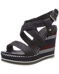 42d48949357 Tommy Hilfiger Tommy Jeans Technica Women s Sandals In Red in Red - Lyst