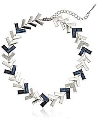 T Tahari - Chevron Chic Jet Cry Collar Necklace - Lyst