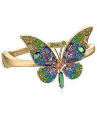 Betsey Johnson - S Blooming Betsey Butterfly Statement Bracelet, Multi, One Size - Lyst